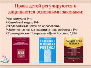 Исследовательский проект. Права ребенка в Конституции РФ