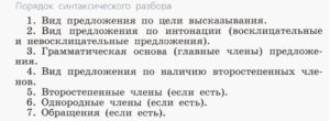 Дидактический материал для синтаксического разбора предложения в 4 классе