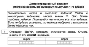 Итоговая проверочная работа по русскому языку для 2 класса - подготовка к тестированию МЦКО