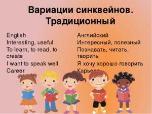 Использование метода СИНКВЕЙН на уроках английского языка