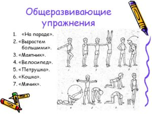 Урок по физической культуре в 1 классе ОРУ без предметов.