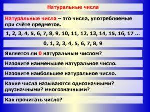 Реферат по математике Натуральные числа (10 класс)