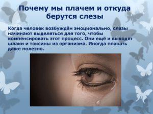Научно-исследовательская работа Слёзы. Почему мы плачем