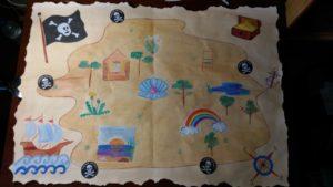 Конспект занятия( квест - игры ) в подготовительной к школе группе на тему :  В поисках клада.