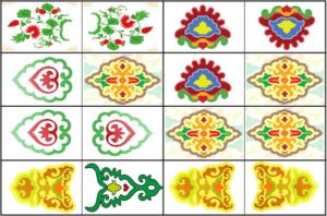 Образцы татарских национальных орнаментов - 7 элементов орнамента. (УМК)