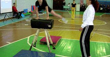 Урок физической культуры Гимнастика.Опорный прыжок через козла