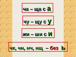 Упражнения в написании слов с буквосочетаниями Жи-ши, ча-ща, чу-щу, чк-чн, нщ, рщ.