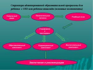 Адаптированная программа для детей с ОВЗ (коррекционный компонент)