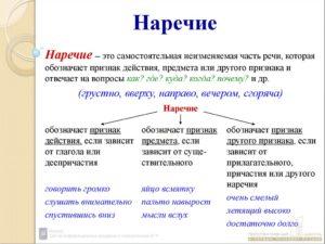Конспект урока русского языка в 7 классе Наречие как неизменяемая часть речи. Разряды наречий.