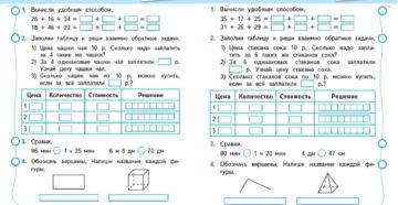 Контрольные работы по математике. 4 класс. УМК Перспектива