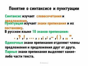 Синтаксис и пунктуация 5 класс