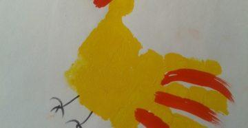 Занятие храбрый петушок (рисование ладошкой)