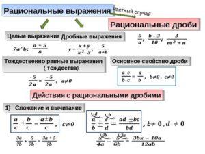 Дробно - рациональные выражения. 8 класс. Математика.