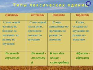 План -конспект урока русского языка в 10 классе(базовый уровень) по теме Синонимы.Антонимы.Омонимы.Паронимы
