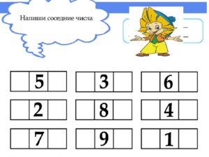 Конспект занятия по ФЭМП в старшей группе на тему  Соседи числа