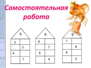Числа от 1 до 10. Состав чисел первого десятка. Сравнение чисел. Дополнение равенств