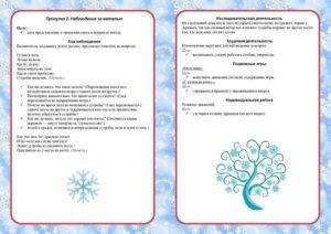 Конспект целевой прогулки в зимнее время для детей старшей группы детского сада