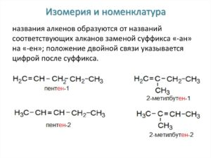 Электронное и пространственное строение, номенклатура, гомология и изомерия алкенов (10 класс)