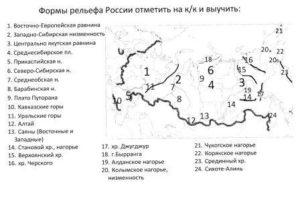 Итоговый тест по географии по теме Рельеф России (8 класс)