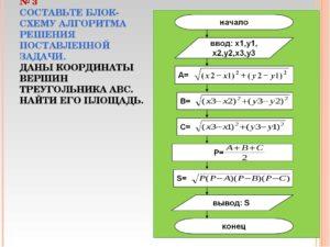 Задачи на составление блок-схем алгоритмов