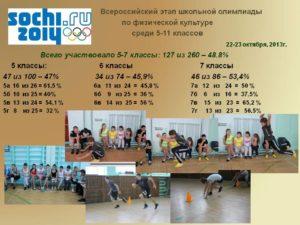 Олимпиада по физической культуре 5-6 класс школьный этап