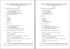Контрольная работа по английскому языку за 1 четверть (5 класс)