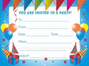 Приглашение на день рождения на английском языке (7 класс)