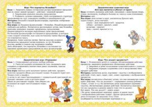 Картотека дидактических игр для подготовительной группы Речевое развитие