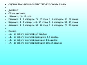 Контрольный диктант по русскому языку во 2 классе (1 четверть)