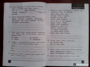 Олимпиада по русскому языку 3 класс