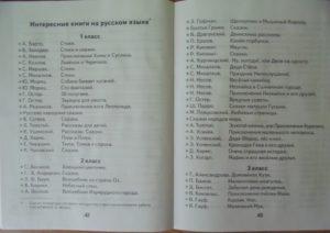 Читательский дневник и список литературных произведений на лето для 2 класса