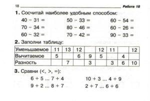 Самостоятельная работа по математике 2 класс 2 четверть
