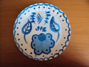 Открытое занятие по рисованию на тему :Украшение тарелочки