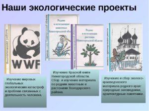 Исследовательская работа по экологическому воспитанию 4 класс