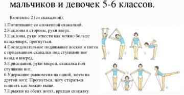 Комплексы упражнений по физкультуре для 1-5 классов