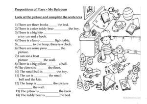 Упражнения по английскому языку по теме Предлоги места